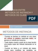 Metodos de Instancia y de Clase