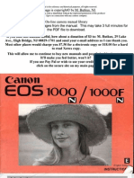 Canon EOS 1000fn user manual