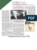 Tristan Tzara - Some Memoirs of Dadaism