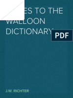 Notes to the Walloon Dictionary