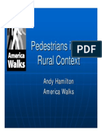 Pedestrians in Rural Context