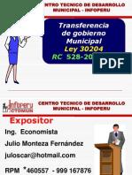 002.1 Transferencia de Gobierno - Datos Previos