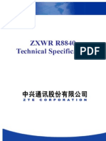 ZXWR R8840 Technical Specification V3.22