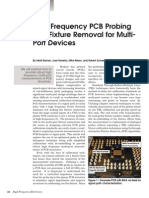 High Freq PCB Probing w Fixture Removal for Multiport Devices