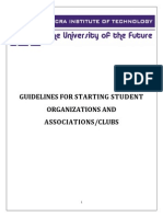 Guidelines for Starting New Student Association