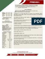 Boletin de Prensa 63 Leones - Tiburones - Cardenales
