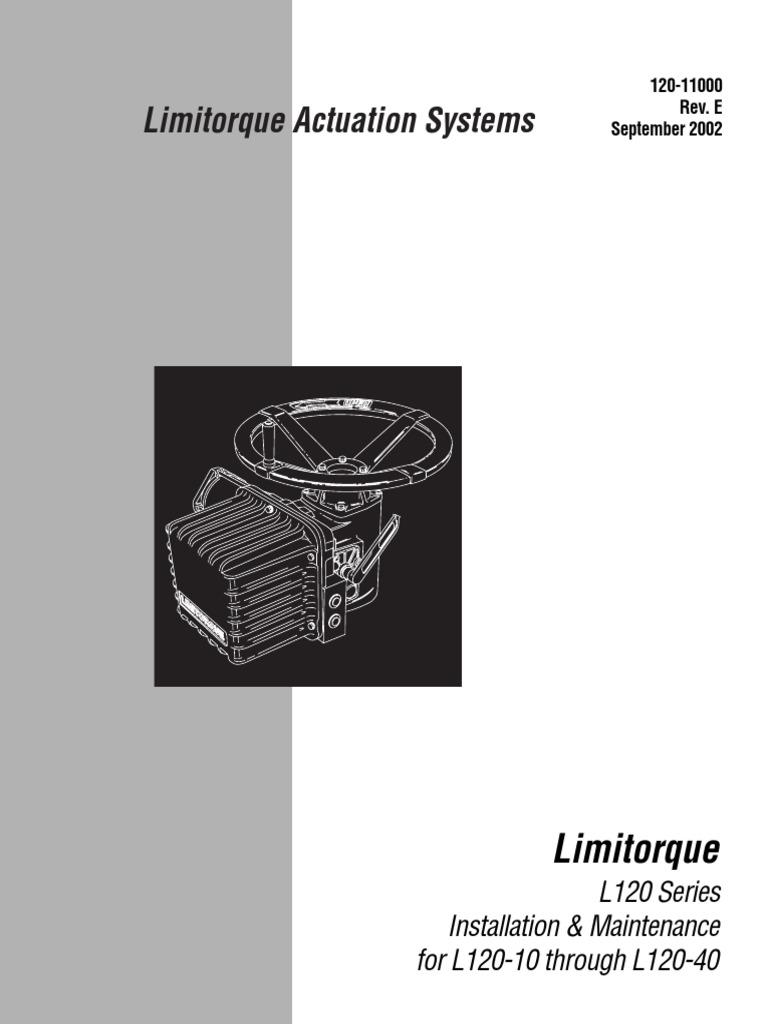limitorque l 120 40 manual switch valve rh scribd com Limitorque L120 Manual Limitorque MX Dimensions