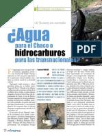 Agua Para El Chaco o Hidrocarburos Para Las Transnacionales