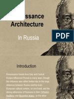 Renaissance Architecture in Russia