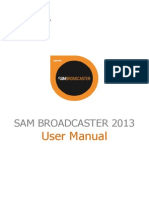 SAM Broadcaster 2013 Manual