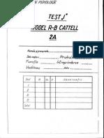 Test i Model R-b Cattell 2a