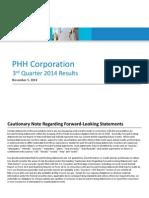 PHH - Third Quarter 2014 Supplemental Schedules