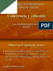 El texto y sus propiedades Coherencia y cohesin 130422134523 Phpapp01