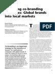 Managing co-branding strategies