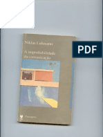 7. Niklas Luhmann a Improbabilidade Da Comunicação