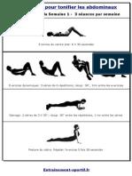 Programme Musculation Abdominaux Debutant