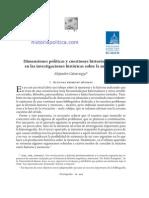 Cattaruzza- Dimensiones Políticas y Cuestiones Historiográficas en Las Investigaciones Históricas Sobre La Memoria