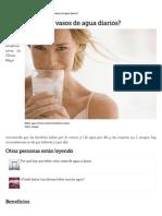 ¿Por Qué Beber 5 Vasos de Agua Diarios_ _ EHow en Español