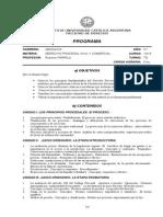 Programa de Derecho Procesal Civil y Comercial Uca