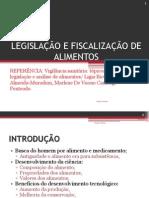 Legislação e Fiscalização de Alimentos