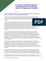 2012 Evaluacion del riesgo para la salud de las emisiones al aire de fractura hidraulica en Colorado
