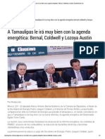 19-09-14 A Tamaulipas le irá muy bien con la agenda energética_ Bernal, Coldwell y Lozoya AustinGaceta