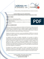 Invitacion Academia DHIS2 Latinoamérica 2014