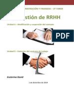 RRHH - Contrato de trabajo - Modificación, extinción