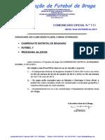 Co n.º 111 Futebol 7_campeonato Distrital de Benjamins_programa de Jogos