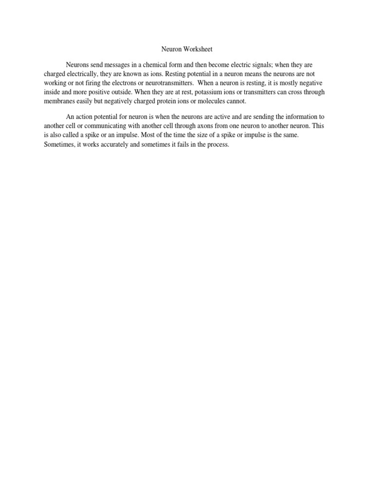 worksheet Neuron Worksheet psych 630 week 2 individual assignment neuron worksheet docx