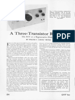 A 3 Transistor Receiver ARRL QST Magazine