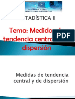 Medidas de Tendencia Central y de Dispersión