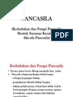 Bentuk Susunan Kesatuan Sila-sila Pancasila