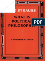 Leo Strauss - What is Political Philosophy
