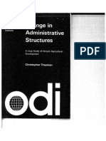 Change in Administrative Structures