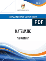 Dokumen Standard Kurikulum - SK Matematik Thn 4 BM
