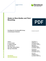Study on Rare Earths and Their Recycling======