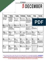 12 December 15 Calendar