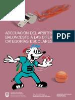 Adecuación del arbitraje de baloncesto a las diferentes categorías  escolares
