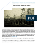 study of electrical power generation,transmission \u0026 distribution inelectrical engineering portal com historical review of power system stability problems