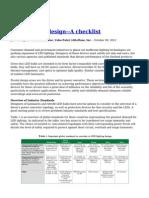 LED Lighting Design a Checklist