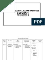 Rancangan Pelajaran Tahunan RPT Geografi Tingkatan 1