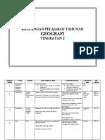 Rancangan Pelajaran Tahunan RPT Geografi Tingkatan 2