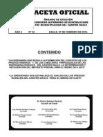 Ordenanzas Daule 2014 Gaceta 22