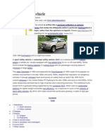 History of Sport Utility Vehicles