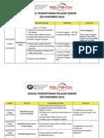 Jadual Pendaftaran Pelajar Senior