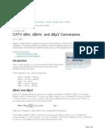 CATV DBm, DBmV, And DBµV Conversions - Tutorial - Maxim