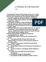 Conceptual Models and Frameworks