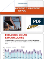 Nivel de Exportación e Importación Del Perú
