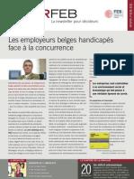 Les employeurs belges handicapés face à la concurrence, Infor FEB 2, 14 janvier 2010